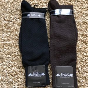 2 Pairs Mens Dress Socks New by Paolo Giardini